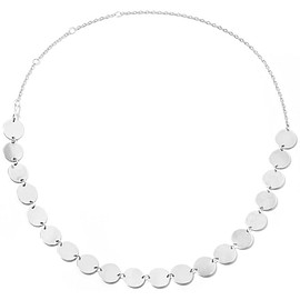 Saskia Diez - Paillettes silver necklace