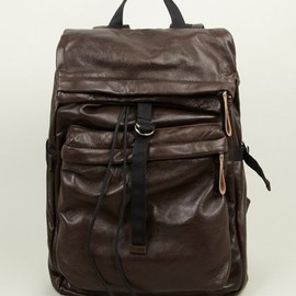 Marni - Men's Brown Leather Rucksack