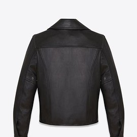 YVES SAINT-LAURENT - Leather biker jacket レザー バイカージャケット