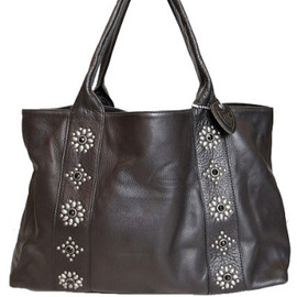 Hollywood Trading Company - Black Leather Tote BAG
