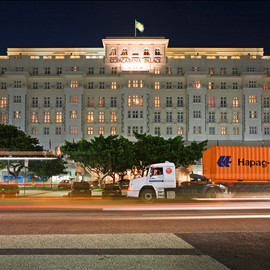 Brazil - The Copacabana Palace Hotel by night