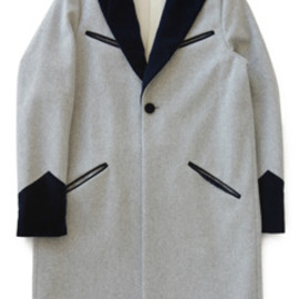PHINGERIN - No Lapel Teddy Coat (lt.grey)