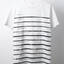 "DENIAL SHIRT - SOUND WAVE BORDER SHIRT ""MP3 KILLED THE CD STAR?"""