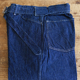 comoli - belted denim pants