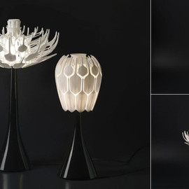 Patrick Jouin - 3D-Printed Table Lamps Bloom Like Flowers Filled with Light