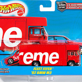 Supreme, Hot Wheels - Fleet Flyer + 1992 BMW M3