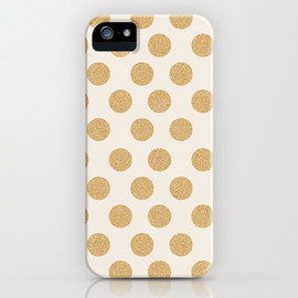 Society6 - Glittering Gold Dots iPhone & iPod Case