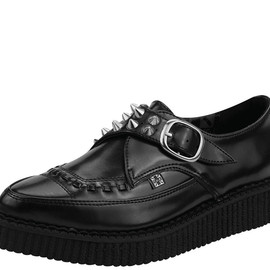 T.U.K. Shoes - Studded Pointed Tow Low Sole Creepers
