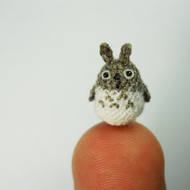 Cute Tiny Giraffe - Micro Crochet Miniature Animals - Standing Yellow Girrafe - Made To Order