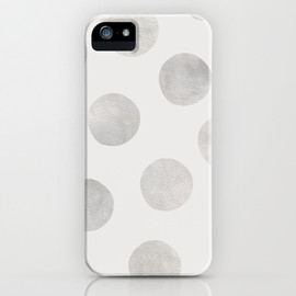 Society6 - Silver Polka Dots iPhone & iPod Case