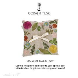 CORAL&TUSK - bouquet ring pillow