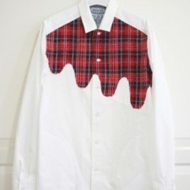 desertic - Liquid Tartan Shirt Jacket Red