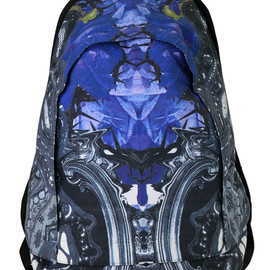 KTZ - BLUE ROSE / LACE PRINTED BACKPACK