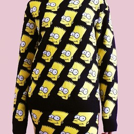 JEREMY SCOTT - Jeremy Scott Bart Simpson Sweater
