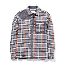 white Mountaineering - COTTON HERRINGBONE CHECK HUNTING SHIRT