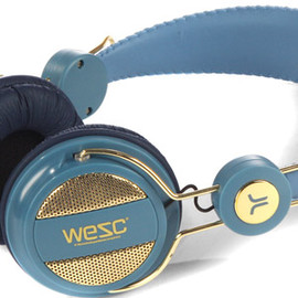 WeSC - Oboe Golden seasonal headphones mechanical blue