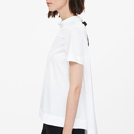 COS - blouse with tie neck
