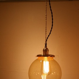 Point No.39 - Glass shade lamp (L size/Amber) *OPL010