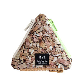 EYL - EYL triangle coin purse Wood Chips