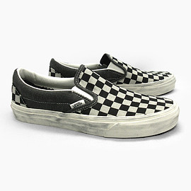 VANS - CLASSIC SLIP-ON (OVERWASHED) BLACK/CHECK