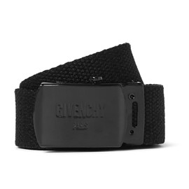 GIVENCHY - 3cm Black Cotton-Canvas Belt
