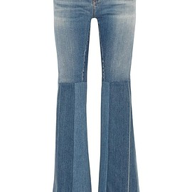 Roberto Cavalli - Patchwork high-rise flared jeans