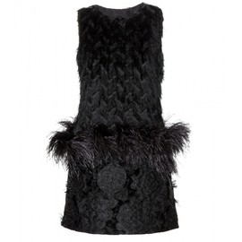 LANVIN - FW2014 Fringed dress with ostrich feathers