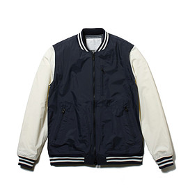 White Mountaineering - SAITOS NYLON TAFFETA 3LAYER VARSITY JACKET