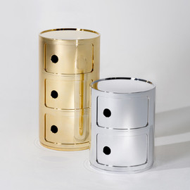 Kartell - Componibili Side Table in metal glossy finish by Anna Castelli Ferrieri for Kartell
