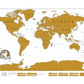 Luckies - Scratch Map personalised world map poster