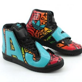 adidas originals - ADIDAS ORIGINALS BY JEREMY SCOTT LETTERS MULTICOLOR