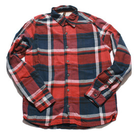 nudie jeans - Red Allan Fade Large Check Shirt