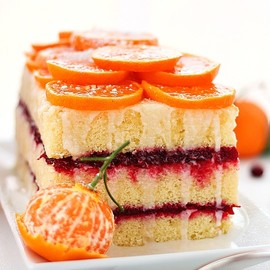 Citrus Cranberry Layered Cake