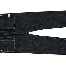 SASSAFRAS - Fall Leaf R Spray Pants-14oz Denim-Indigo