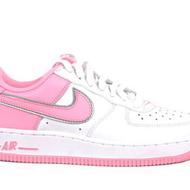 Nike - Air Force 1 Low (White / Perfect Pink / Metallic Silver)
