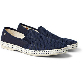 Rivieras - Rivieras Cotton Mesh Slip-On Shoes
