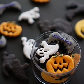 cake and sweets bougiee - Halloween cookies case