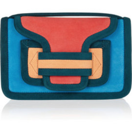 PIERRE HARDY - Pierre Hardy /Color block suede shpulder bag