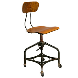 Toledo Style Adjustable Height Swiveling Industrial Chair
