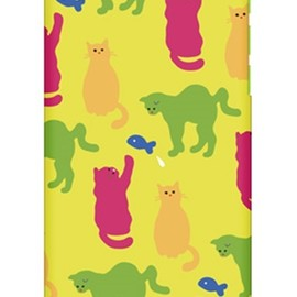SECOND SKIN - uistore 「Daily Cats (Lemon yellow)」 / for iPhone 5c/docomo