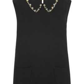 miu miu - ☆2012Fall☆miu miu Embellished-collared crepe top 1