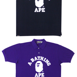 A BATHING APE - COLLEGE 半袖ポロシャツ
