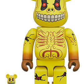 MEDICOM TOY - BE@RBRICK SKULL FACE 100% & 400%