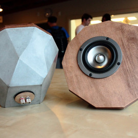 TheMakerage - Designer Concrete Speakers Prototype