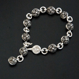 chrome hearts - #2 crossball bracelet