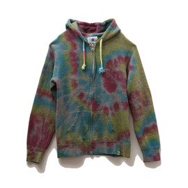 GDC - tie-dyeing zip-up parka