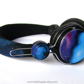 Space Galaxy Nebula Custom headphones