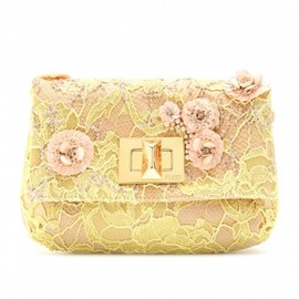 EMILIO PUCCI - LACE AND BEAD ACCENTED CLUTCH