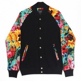 JOYRICH - SUNRISE BLOSSOM ATHLETIC JACKET / BLACK X GREEN
