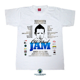 DJ Ted Smooth - Image of 10th Annual Tedsmooth Old School Jam Tee (Blue)